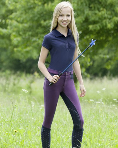 USG Kid's Knee Patch Breech - Lilac/Navy