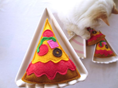 Organic Catnip Pizza Toy
