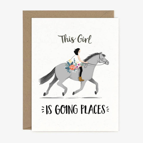 Going Places Pony Greeting Card