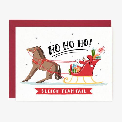 Ho Ho Horses Christmas Greeting Card