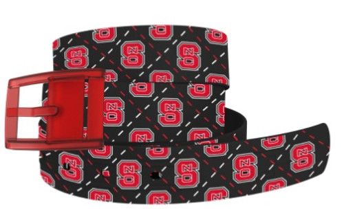C4 Classic Belt - North Carolina State with Red Buckle
