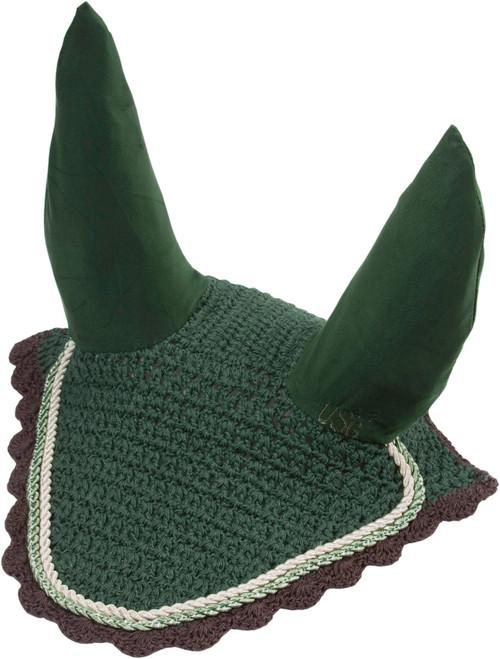 USG Fly Veils - Pony Size - Dark Green/Ecru