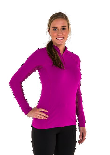 Ashley Long Sleeve Vented/Mesh Sun Shirt - Plum