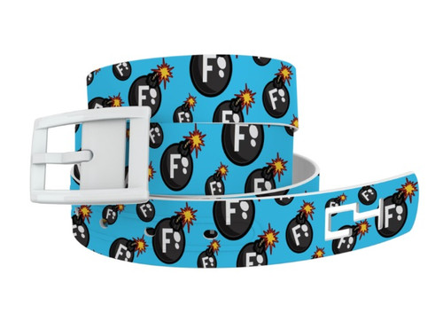 C4 Classic Belt - F Bomb with White Buckle