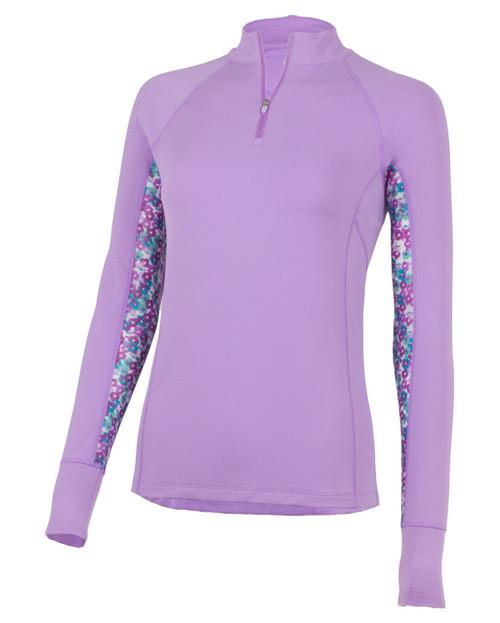 Ashley Long Sleeve Vented/Mesh Sun Shirt - Hyacinth