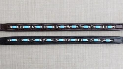 Blue Bead & Crystal Browband