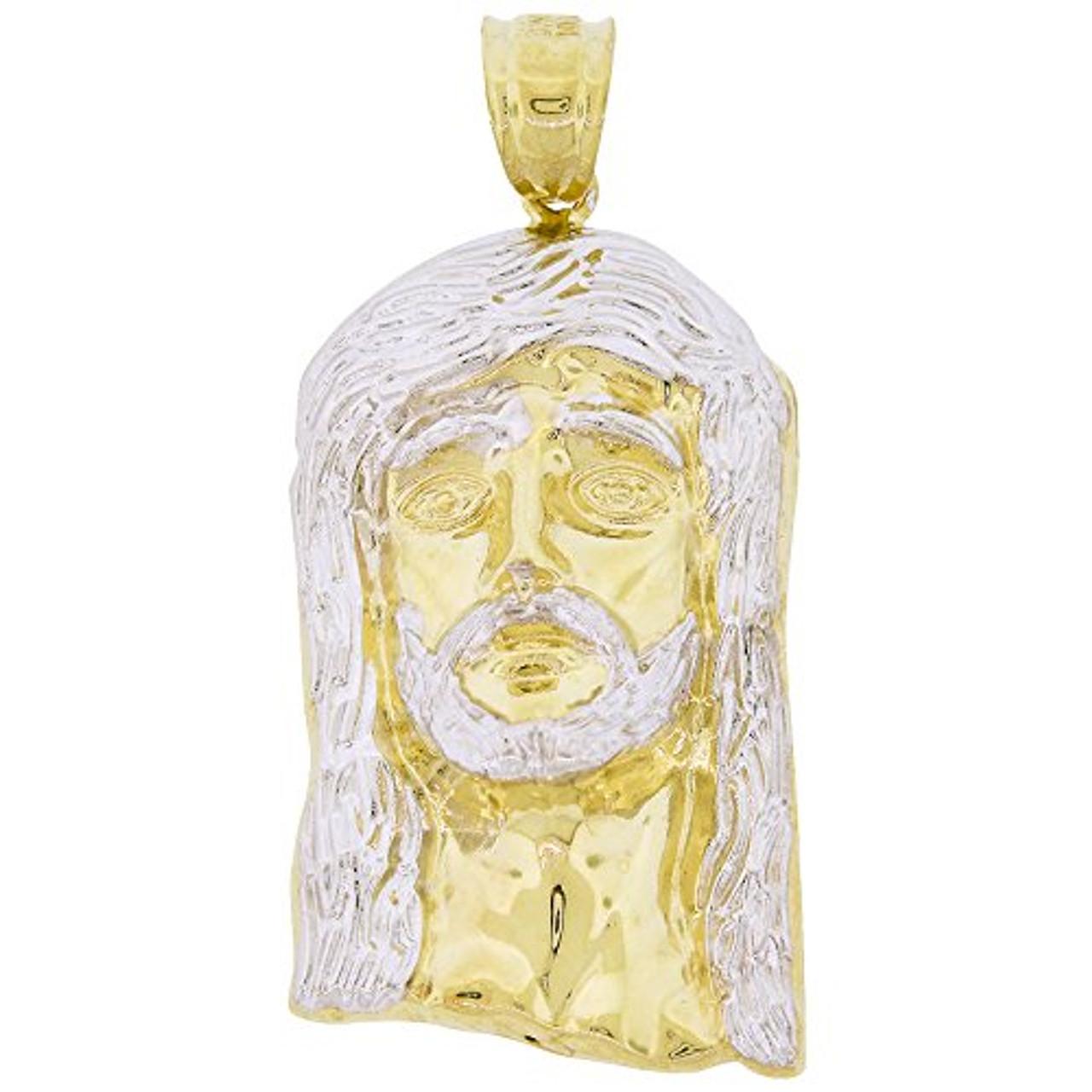 10k Gold Hollow Jesus Piece Pendant Shopjw