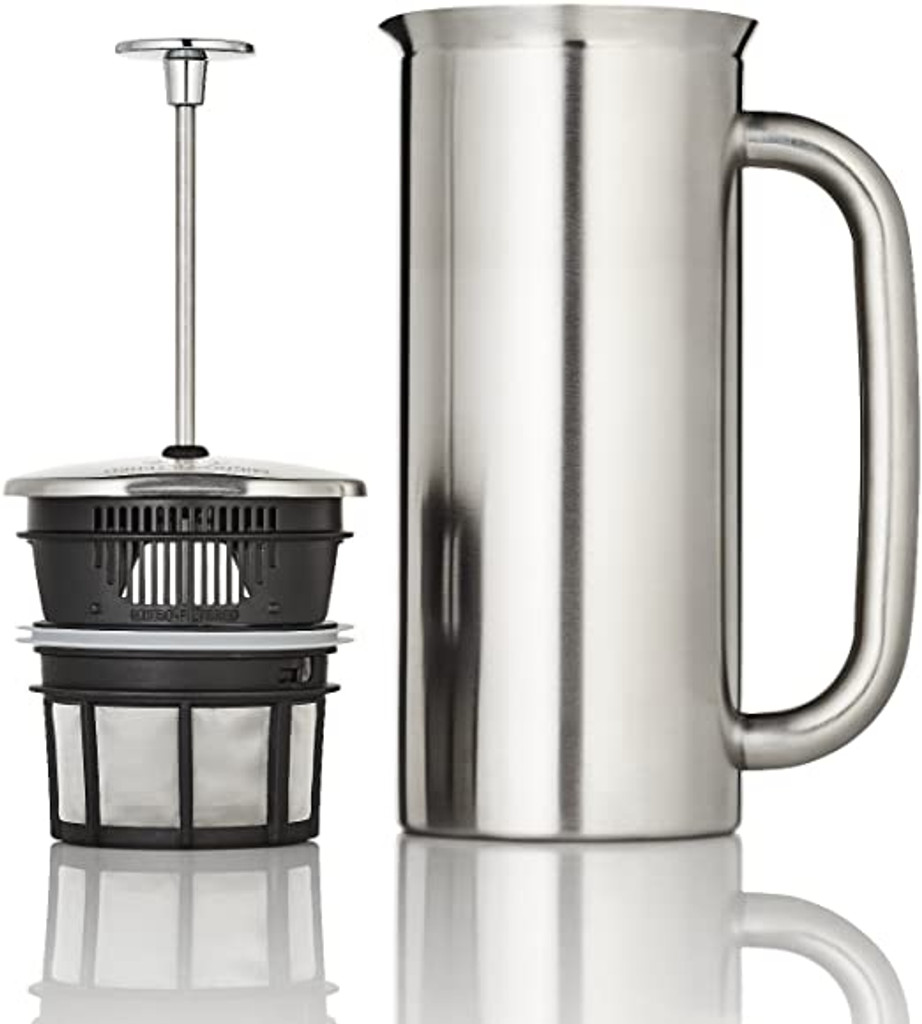 ESPRO P7 French press, 32 Ounce, Brushed Stainless Steel