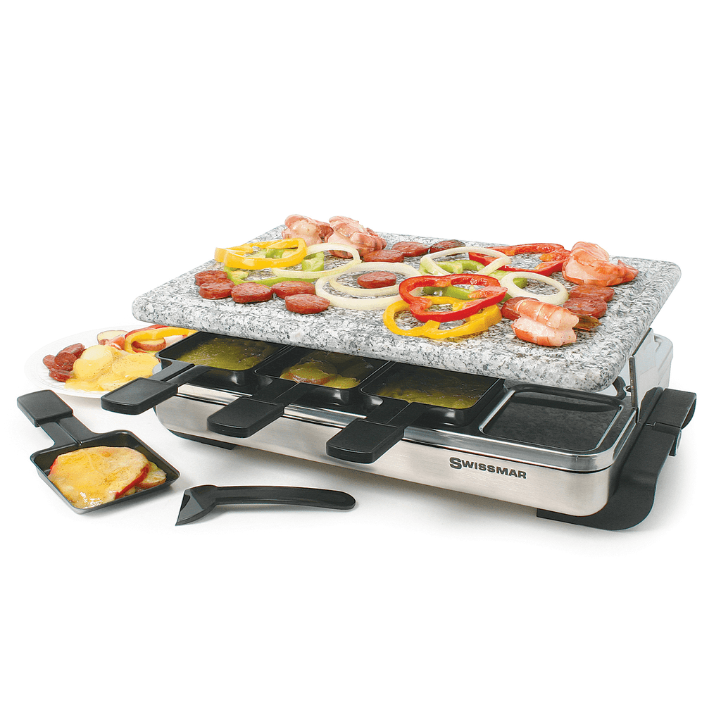 CLEARANCE Swissmar 8 Person Stelvio Raclette Party Grill with Granite Stone
