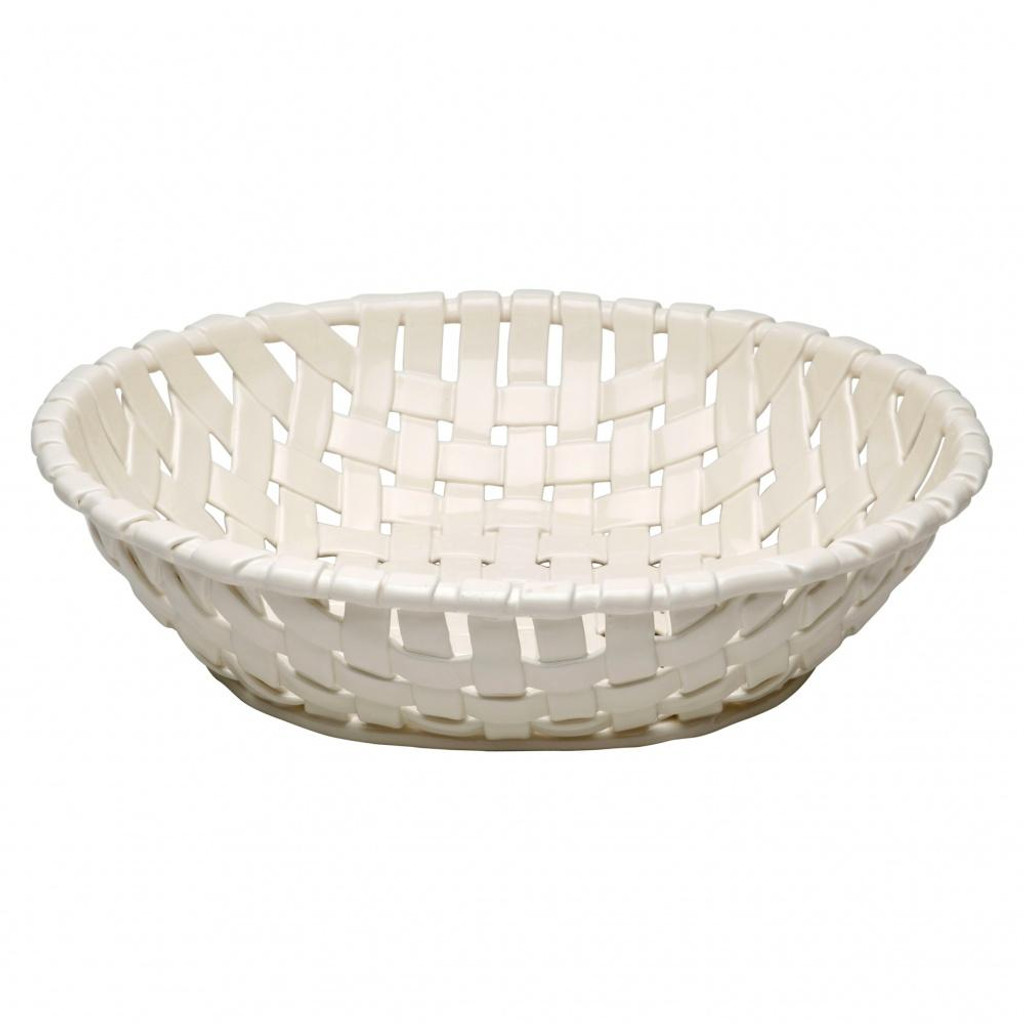 Casafina Ceramic Large Oval Basket White
