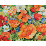 Magic Slice Cutting Board - Lively Poppies