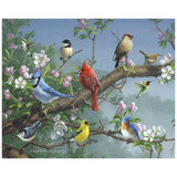 Magic Slice Cutting Board - Songbirds in Apple Blossoms