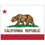 Magic Slice Cutting Board - California Flag