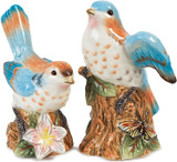 Fitz and Floyd Toulouse Birds Salt and Pepper Shakers