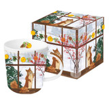 Hearth Time Squirrel Mug and Box