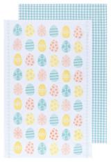 Easter Eggs Dishtowels Set of 2