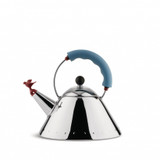 Alessi Kettle Light Blue With Bird Whistle