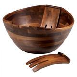 Mescolare Round Acacia Salad Bowl