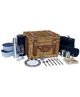 Canterbury Picnic Basket Navy Plaid