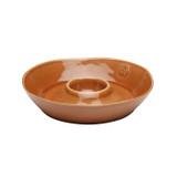 Casafina Forum Cognac Chip and Dip Bowl
