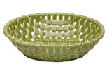 Casafina Ceramic Large Oval Basket Green