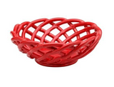 Casafina Ceramic Medium Round Basket Red