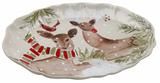 Deer Friends Large Oval Platter 20IN