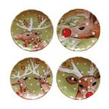 Deer Friends Salad Plates 9IN Set of 4