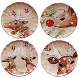 Deer Friends Dinner Plates 11IN Set of 4