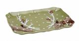 Deer Friends Rectangular Platter 14IN