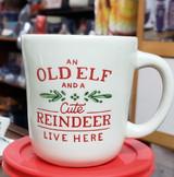 Old Elf and Reindeer mug