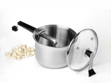 Stainless Steel Platinum Series Popcorn Popper with Glass Lid