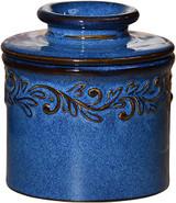 Antique Denim Blue Butter Bell Crock