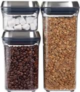 Steel 3PC Airtight Food Storage POP Container Set