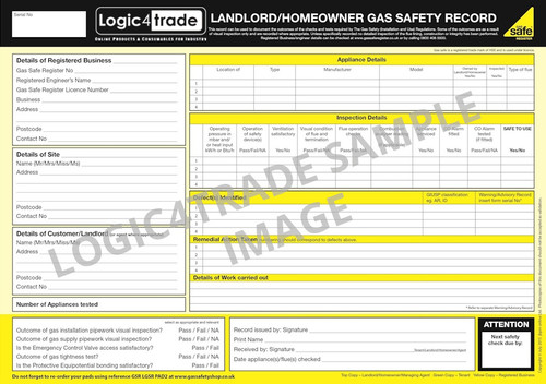 Landlord Gas Safety Record PAD2
