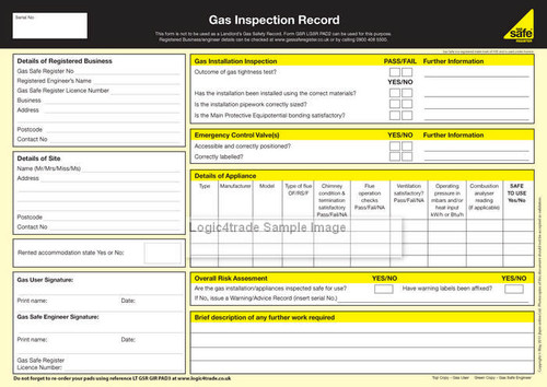 Gas Inspection Record PAD3