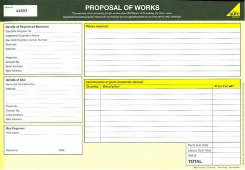 Estimate / Proposal of Works PAD4