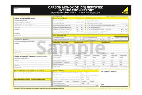 Carbon Monoxide (CO) Reported Investigation Report PAD24