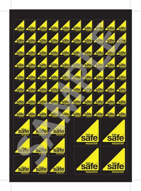 Gas Safe Logo Stickers GSR11 (pack of 5)