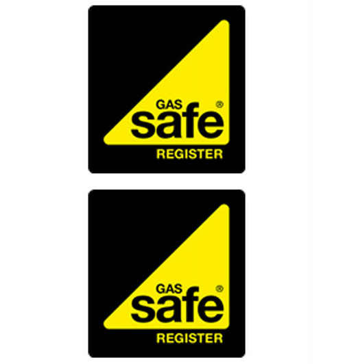 Gas Safe Logo Van Stickers (pack of 2 - 205x221mm)