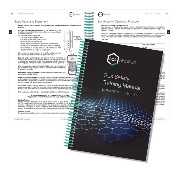 Domestic gas safety training manual by LCL Awards