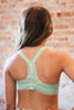 Delicately Stunning Y-Back Lace Bralette in Light Mint back view.