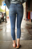 Jean for Joy Light Cropped Skinny Jeans back view.
