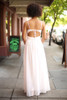 Party on the Dance Floor Cream and Blush Embroidered Gown back view.