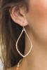 Gold Hammered Metal Teardrop Earrings