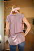 Back to Business Mauve Cap Sleeve Blouse back view.