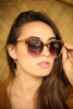 Tortoise Shell and Gold Rimmed Sunglasses