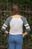 Weekend Lover Graphic Oatmeal Long Sleeve Top back view.