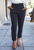 Business Babe Black Skinny Leg Trousers front view.