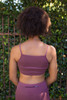 Activated Athletics Orchid Strappy Sensation Sports Bra back view.